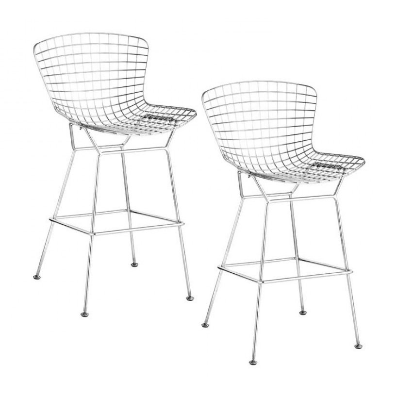 Pleasing Bellmont Bertoia Wire Bar Chair Set Of 2 Beatyapartments Chair Design Images Beatyapartmentscom