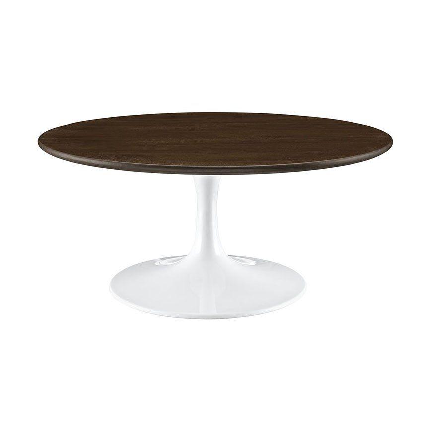 Round Tulip Coffee Table Wood
