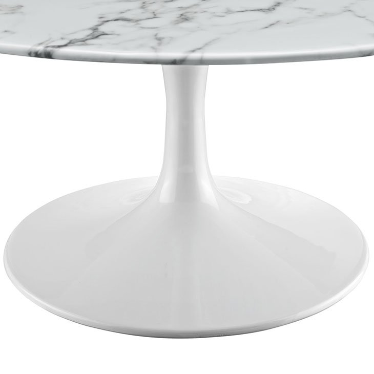 Fine Sandlake Saarinen 36 Round Tulip Coffee Table Artificial Marble Pabps2019 Chair Design Images Pabps2019Com
