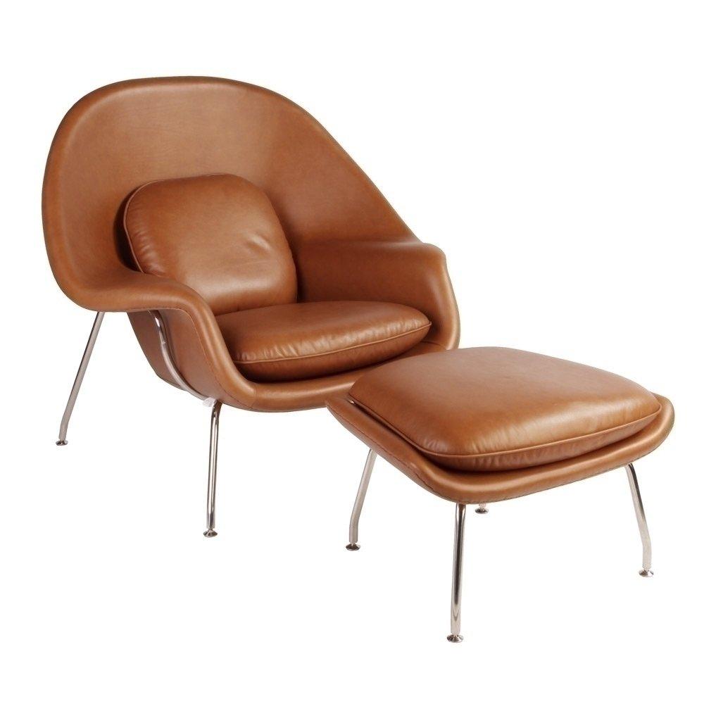 Terrific Saranac Saarinen Chair And Ottoman Leather Short Links Chair Design For Home Short Linksinfo