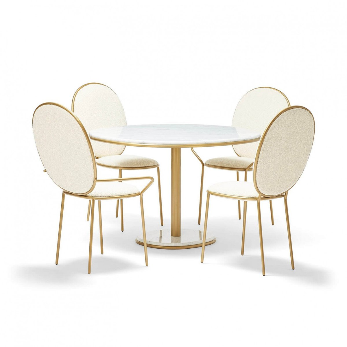 Replica Stay dining chairs and armchairs with table