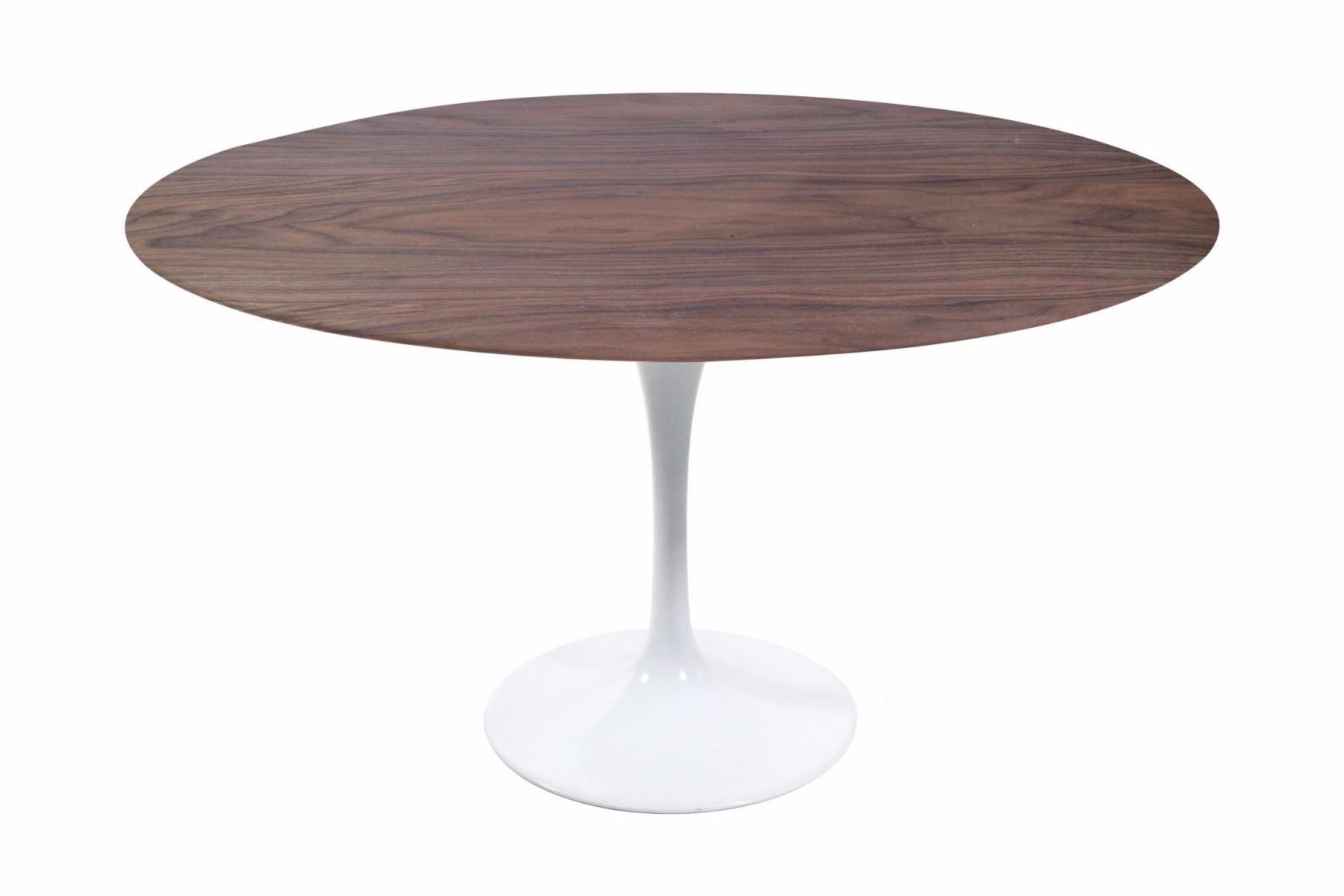 Round Walnut Tulip Dining Table