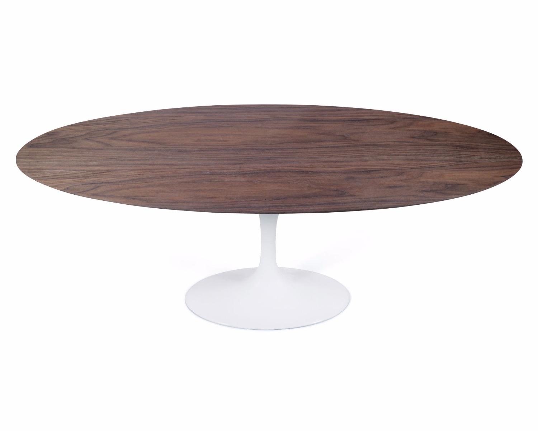 "Sandlake  Saarinen 4"" Oval Tulip Dining Table Walnut"