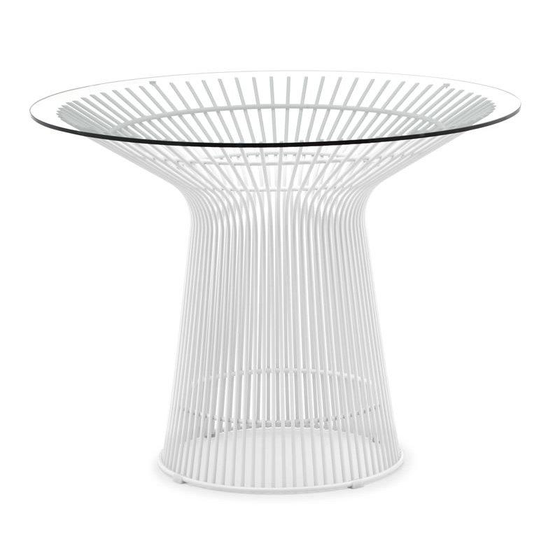 platner dining table - white