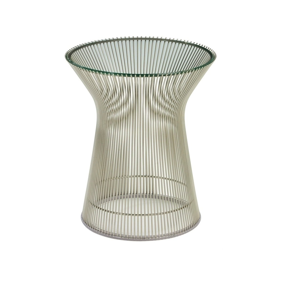 platner wire side table