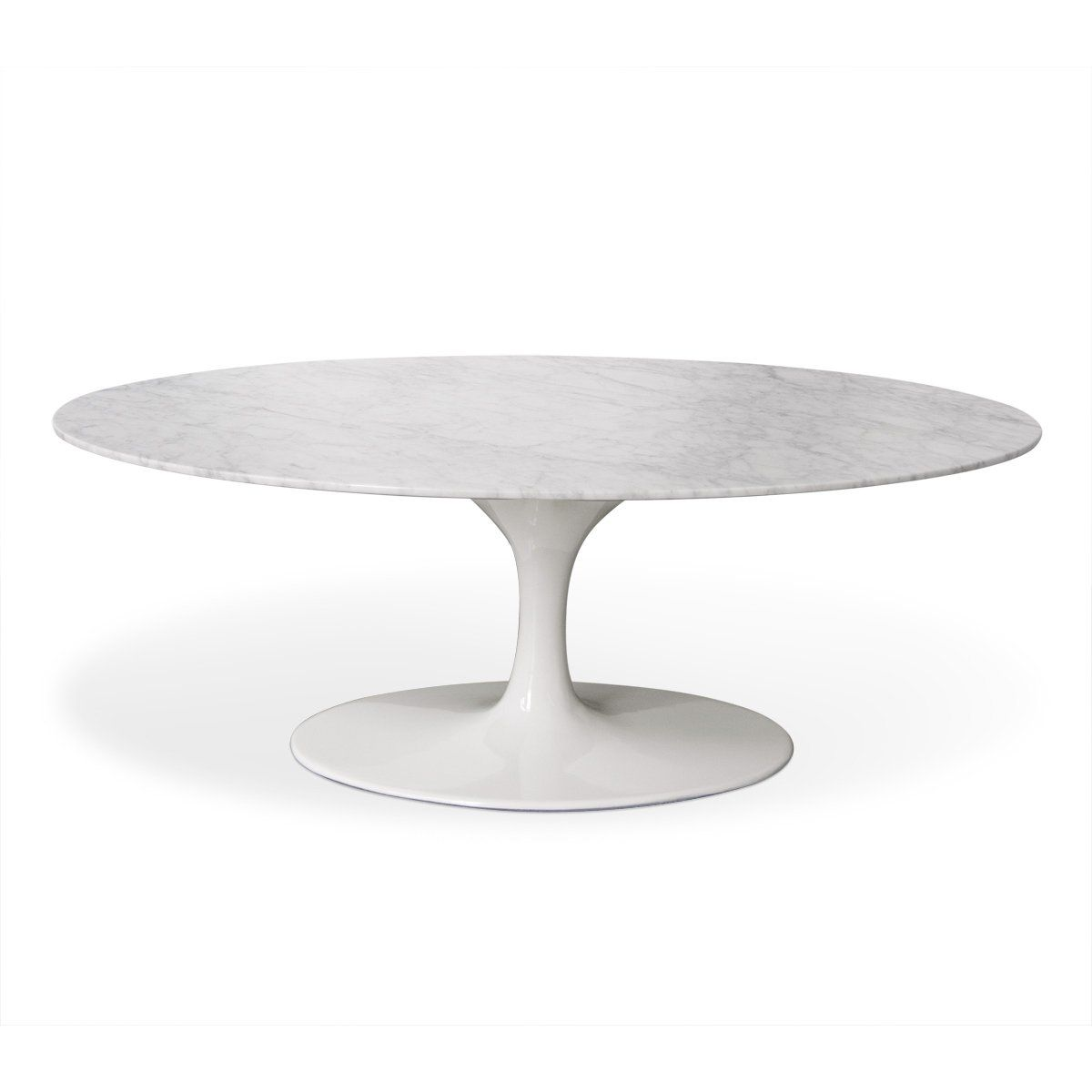 """Oval Tulip Coffee Table: Saarinen 42"""" Oval Marble Tulip Coffee Table"""