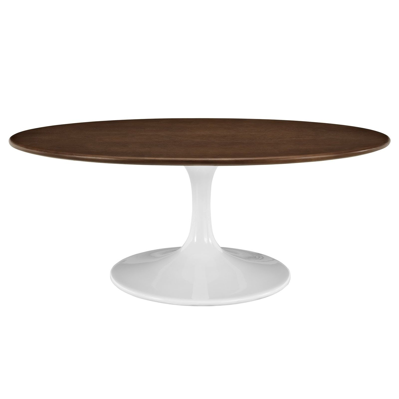 "Oval Tulip Coffee Table: Saarinen 42"" Oval Tulip Coffee Table Wood"