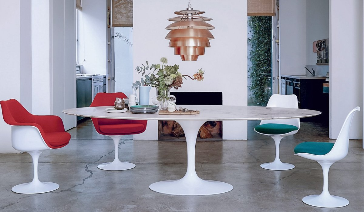 Mid Century Modern Tulip Chairs by Eero Saarinen - HONORMILL Furniture NYC